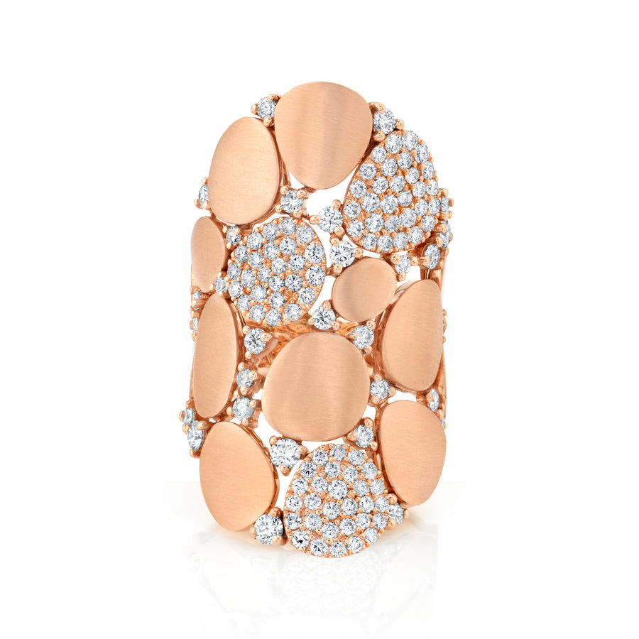 Elongated Rose Gold Pave Band
