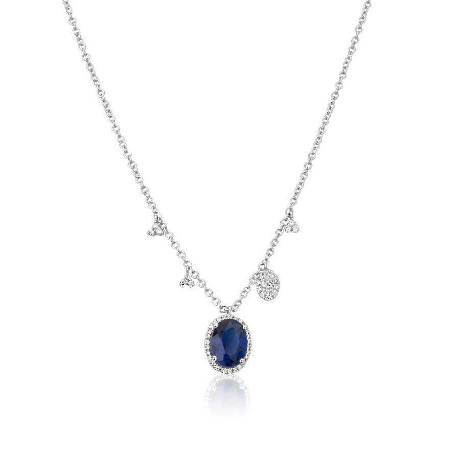 Kyanite Diamond Necklace