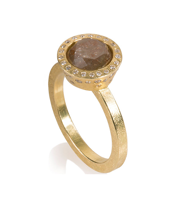 Todd Reed Amber Diamond Engagement Ring