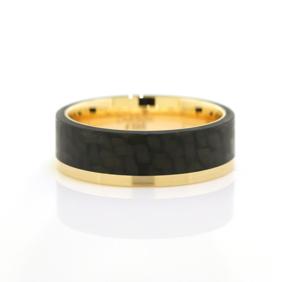 Carbon Fiber & Gold Men's Band