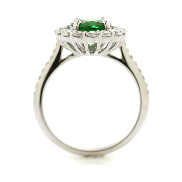 Tsavorite Garnet Diamond Ring