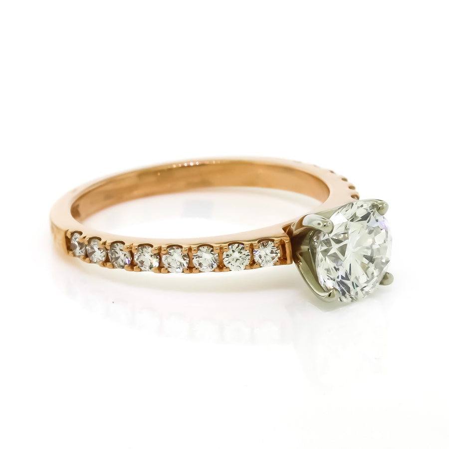 1.32 Cttw. Rose Gold Engagement Ring