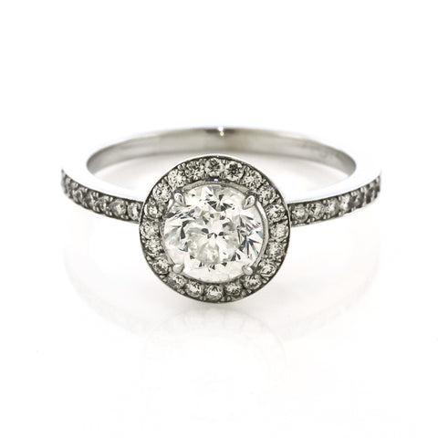 Danhov Micro Prong Diamond Halo Engagement Ring
