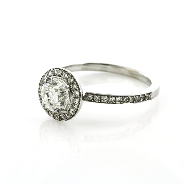 Micro Prong Diamond Halo Engagement Ring by Danhov