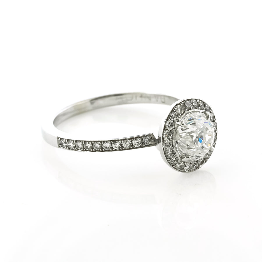 Micro Prong Diamond Engagement Ring by Danhov
