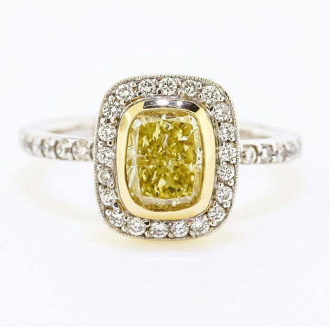 Canary Yellow Diamond by Harold Stevens