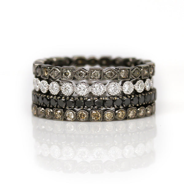Black Diamond Ring Stack