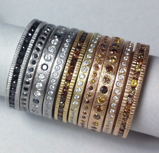 Palladium Diamond Eternity Band by Todd Reed