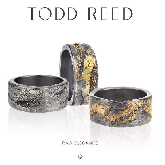 22K Gold and Patina Silver Todd Reed Men's Band