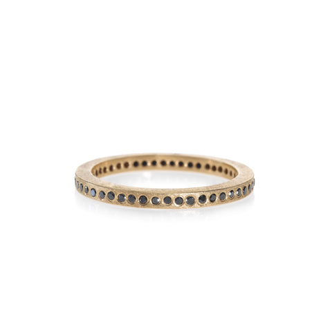 Todd Reed Rose Gold Black Diamond Wedding Ring -TRDR390