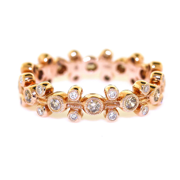 Rose Gold Cognac Diamond Band