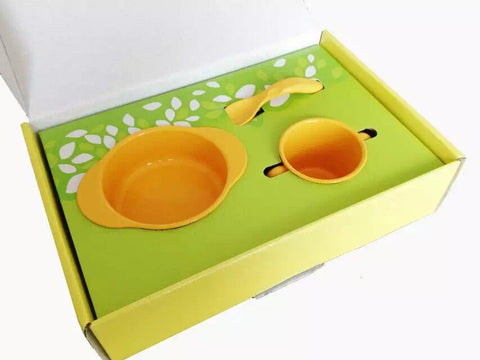 Natural Children's Tableware Set - Made from Corn-based Material