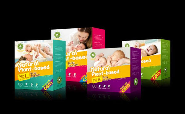 Green Living Natural Plant-based Baby Diapers