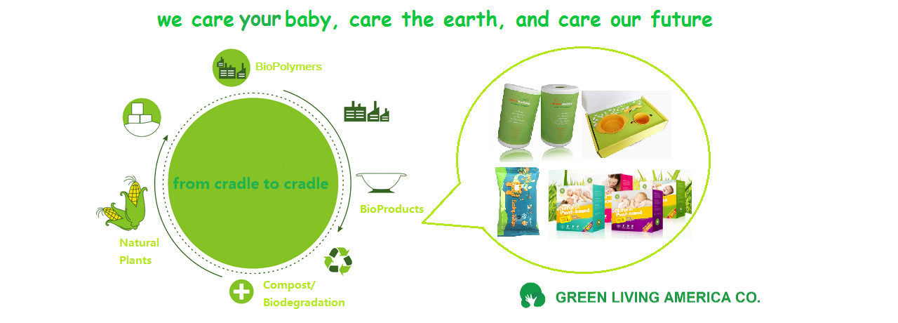 green living america company biodegradable baby diapers liners wipes