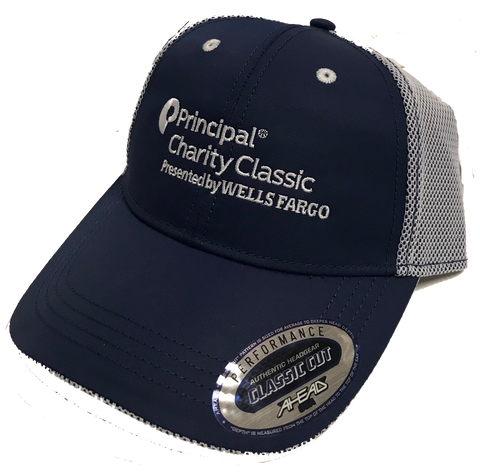 Principal Charity Classic adjustable hat by Ahead (navy w/white mesh)