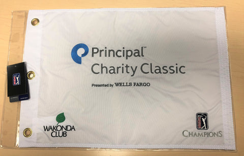 Official Principal Charity Classic pin flag (w/Wakonda Club and PGA TOUR Champions logos)