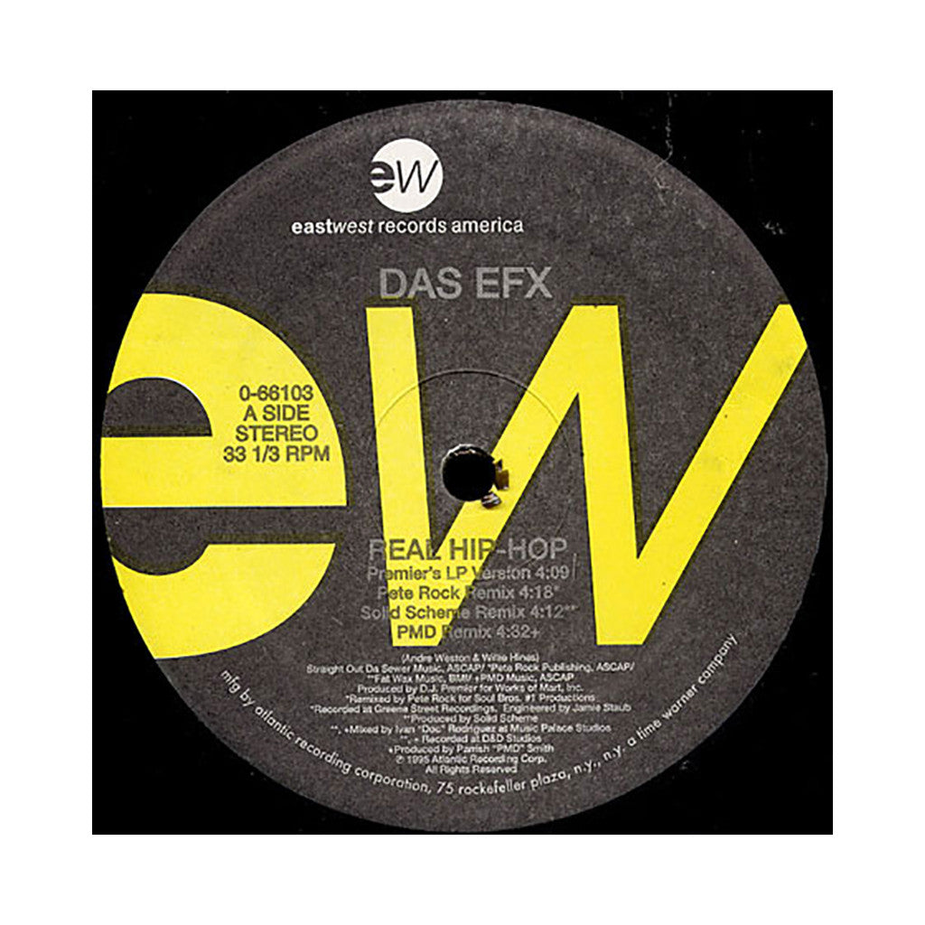 "<!--019950926013710-->Das EFX - 'Real Hip Hop/ Real Hip Hop (Remixes)/ No Diggedy' [(Black) 12"" Vinyl Single]"