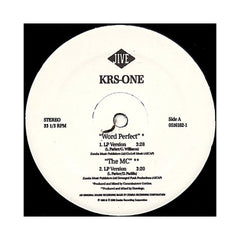 "<!--019970520014040-->KRS-One - 'Word Perfect/ The MC/ Can't Stop, Won't Stop' [(Black) 12"" Vinyl Single]"