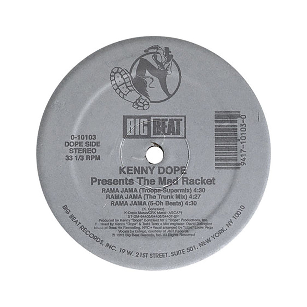 "<!--019930101012035-->Kenny Dope Presents The Mad Racket - 'Dondadda (Gangsta Mix)/ Dondadda/ Rama Jama (Troopa Supermix)/ Rama Jama (Trunk Mix)' [(Black) 12"" Vinyl Single]"