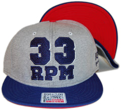 <!--020130806058847-->101 Apparel - '33 RPM' [(Gray) Snap Back Hat]