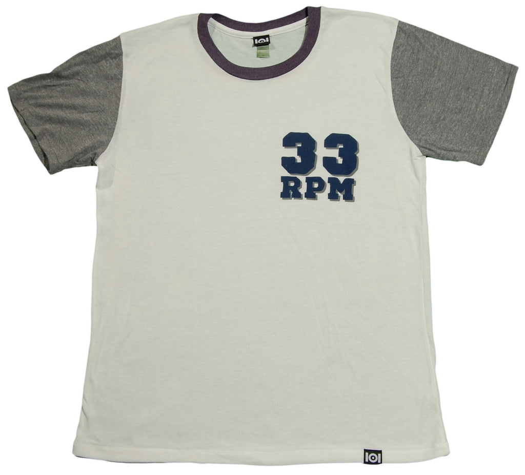 <!--2013080656-->101 Apparel - '33 RPM' [(White) T-Shirt]