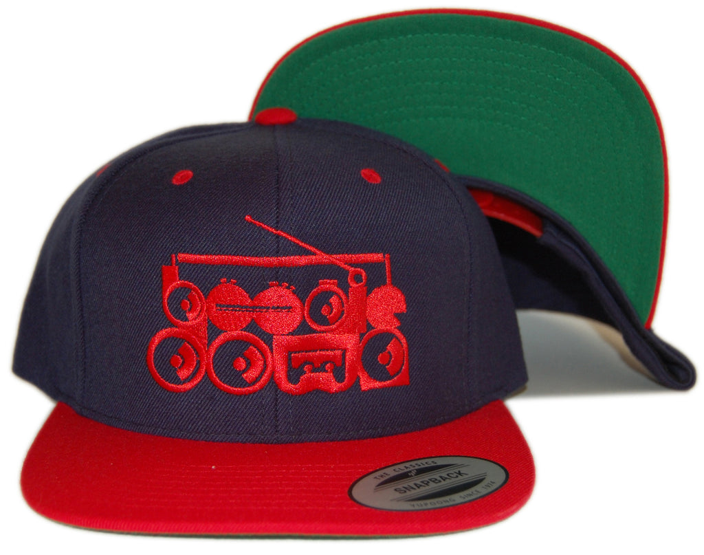 <!--020130219054067-->101 Apparel - 'Boogie Down - Red' [(Dark Blue) Snap Back Hat]