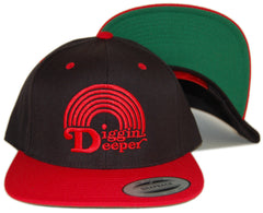 <!--020130219054066-->101 Apparel - 'Diggin Deeper - Red' [(Black) Snap Back Hat]