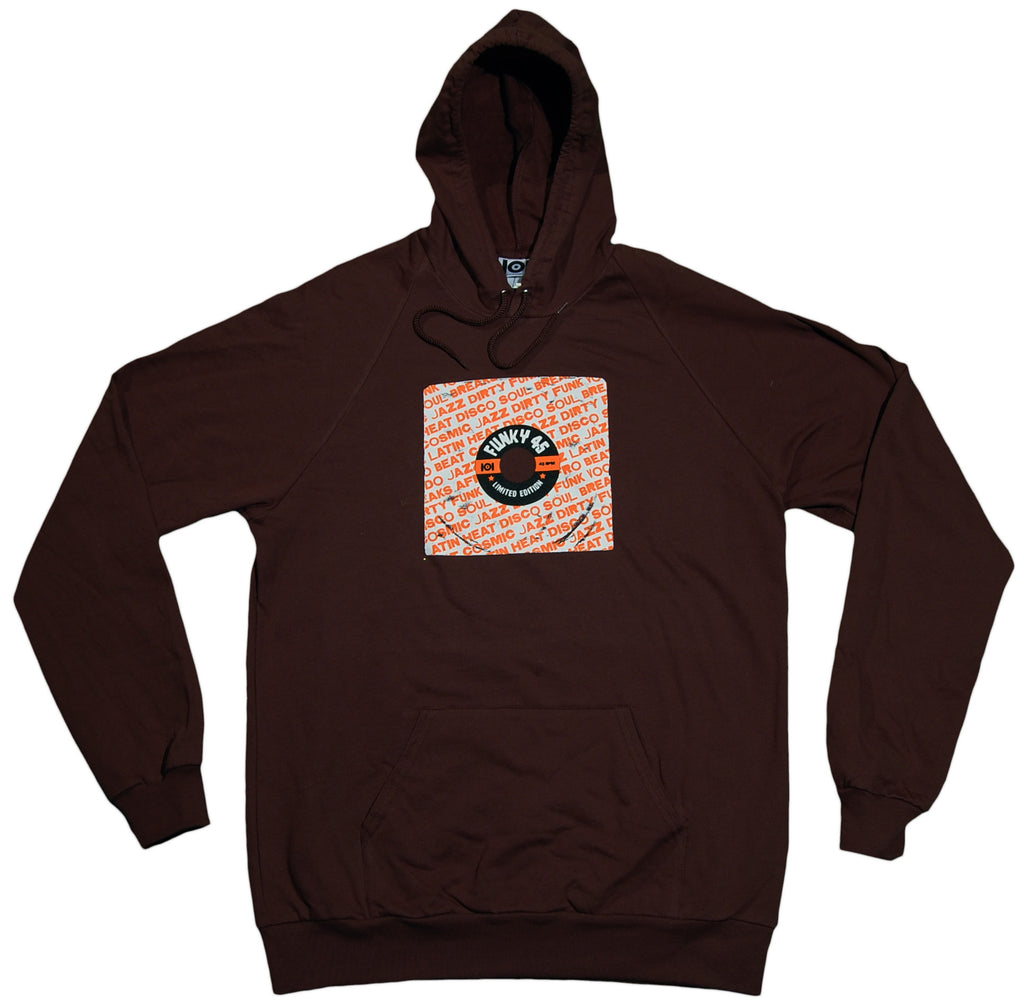 <!--2012011051-->101 Apparel - 'Funky 45' [(Brown) Hooded Sweatshirt]