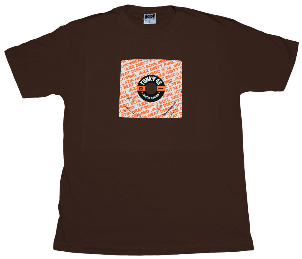 <!--2012011047-->101 Apparel - 'Funky 45' [(Brown) T-Shirt]