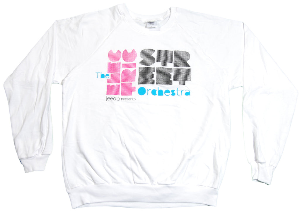 <!--2011053134-->101 Apparel x Jeedo - 'Electric Street Orchestra' [(White) Crewneck Sweatshirt]