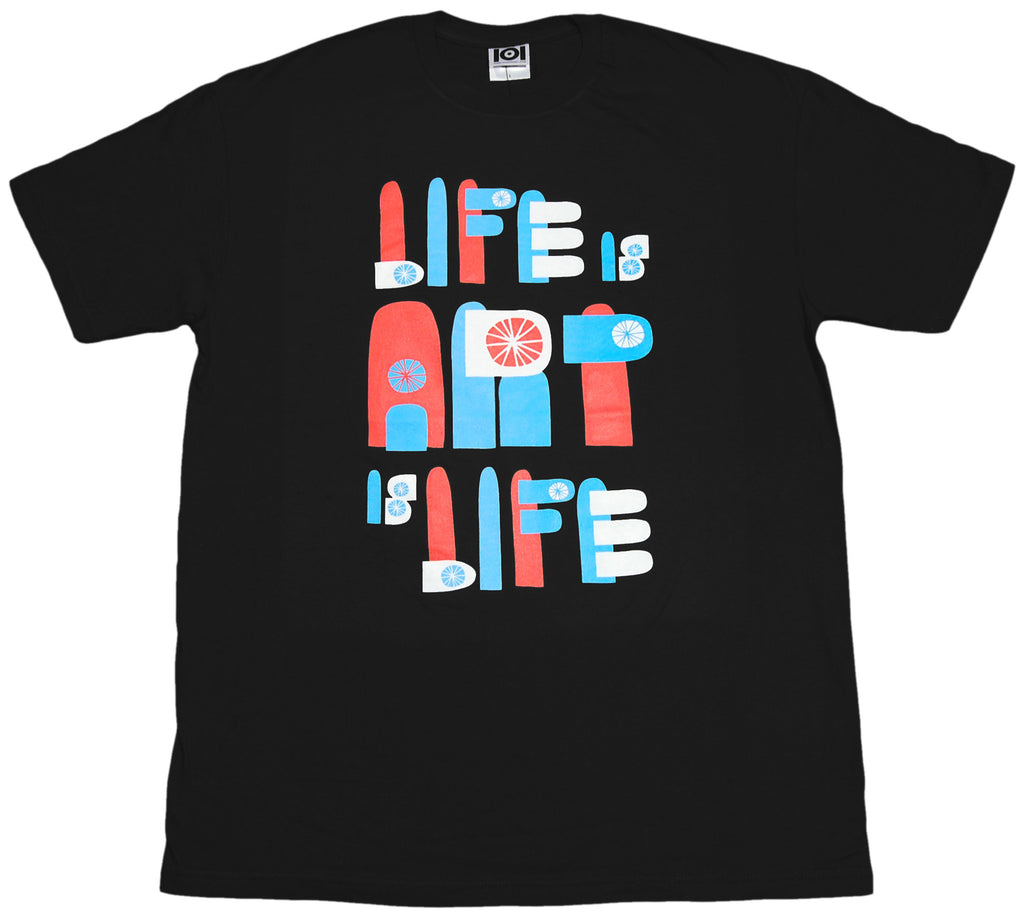 <!--2012011049-->101 Apparel - 'Life Is Art Is Life' [(Black) T-Shirt]