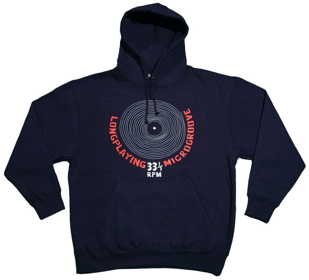 <!--2013021935-->101 Apparel - 'Longplaying Microgroove' [(Dark Blue) Hooded Sweatshirt]