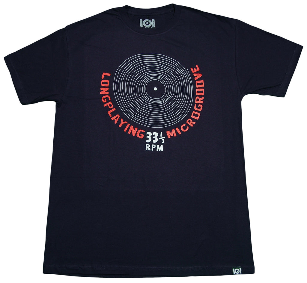 <!--2013021931-->101 Apparel - 'Longplaying Microgroove' [(Dark Blue) T-Shirt]