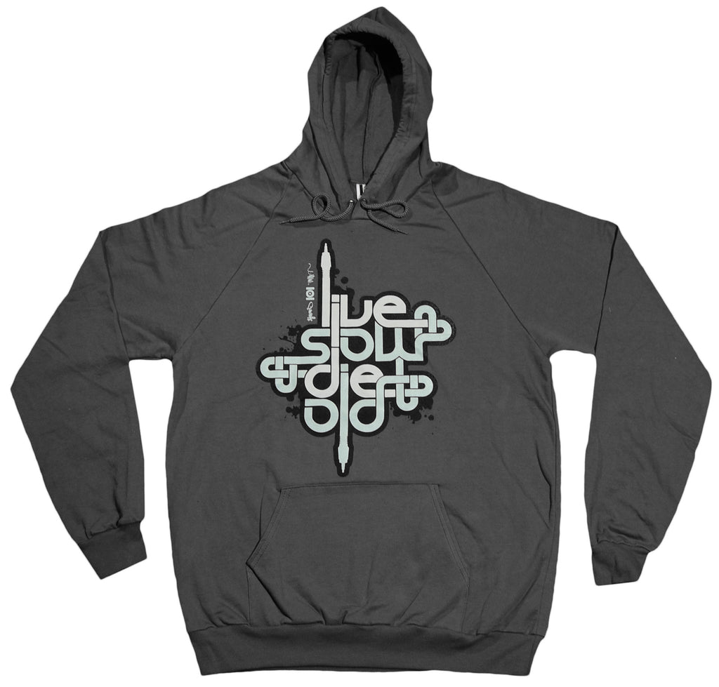 <!--2012011012-->101 Apparel x Mitchy Bwoy - 'Live Slow Die Old' [(Dark Gray) Hooded Sweatshirt]