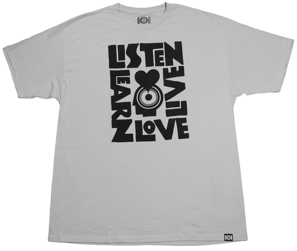 <!--2013021940-->101 Apparel - 'Listen, Learn, Love, Live' [(Light Gray) T-Shirt]