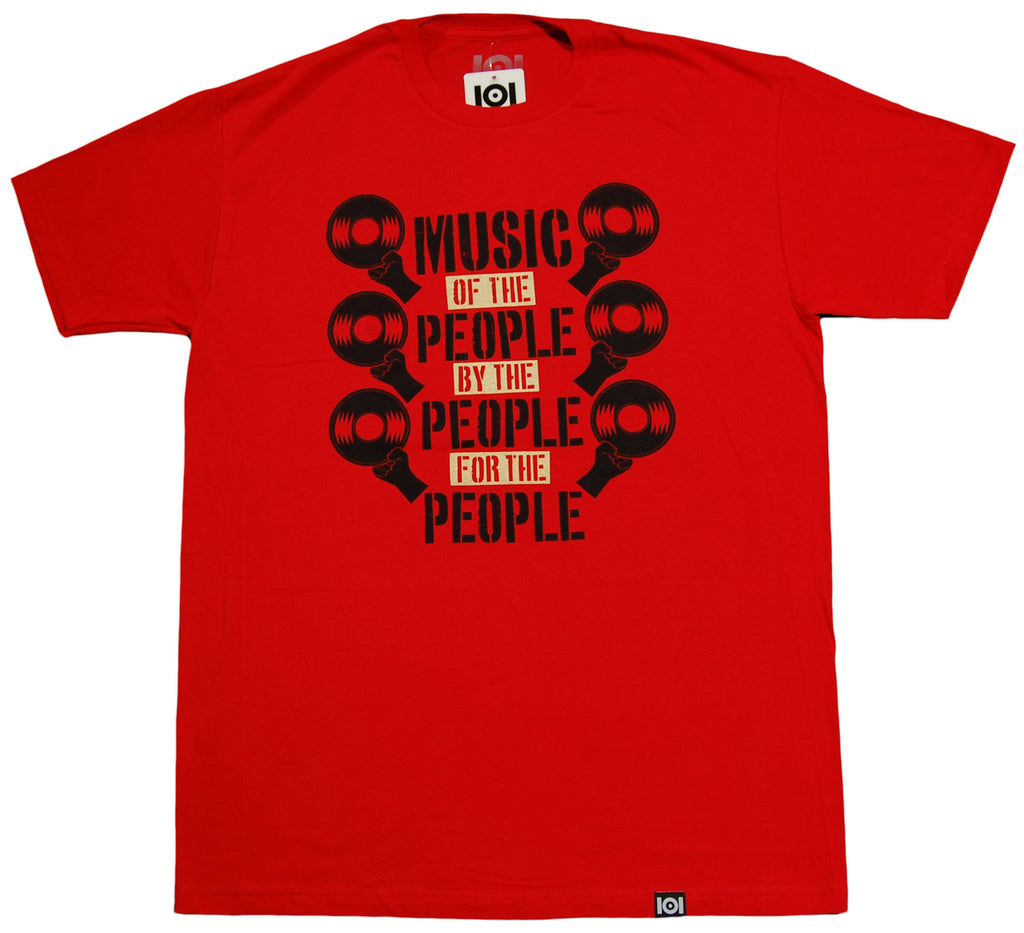 <!--2013080657-->101 Apparel - 'Music Of The People' [(Red) T-Shirt]