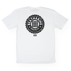 <!--020160713073610-->101 Apparel - 'Beat Making Badge' [(White) T-Shirt]