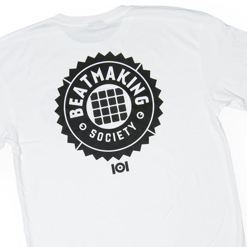 101 Apparel - 'Beat Making Badge' [(White) T-Shirt]