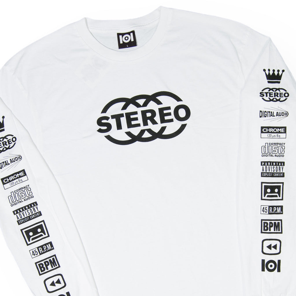 <!--120160713073647-->101 Apparel - 'Big Stereo Icon' [(White) Long Sleeve Shirt]