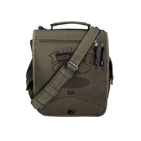 "101 Apparel - 'Diggin Society Messenger Bag' [(Dark Green) 12"" Vinyl Bag]"