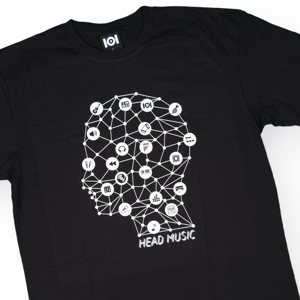 <!--020160713073631-->101 Apparel - 'Head Music' [(Black) T-Shirt]