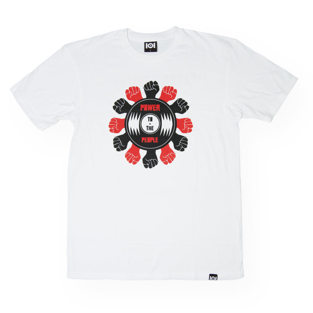<!--020160713073582-->101 Apparel x Mark de Clive-Lowe & GB - 'Power To The People' [(White) T-Shirt]