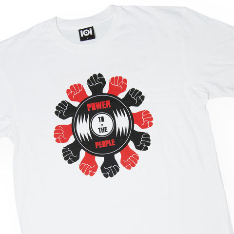 101 Apparel x Mark de Clive-Lowe & GB - 'Power To The People' [(White) T-Shirt]
