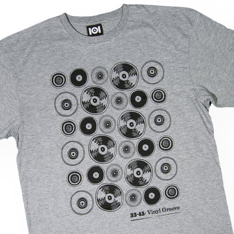 101 Apparel - 'Vinyl Groove' [(Gray) T-Shirt]