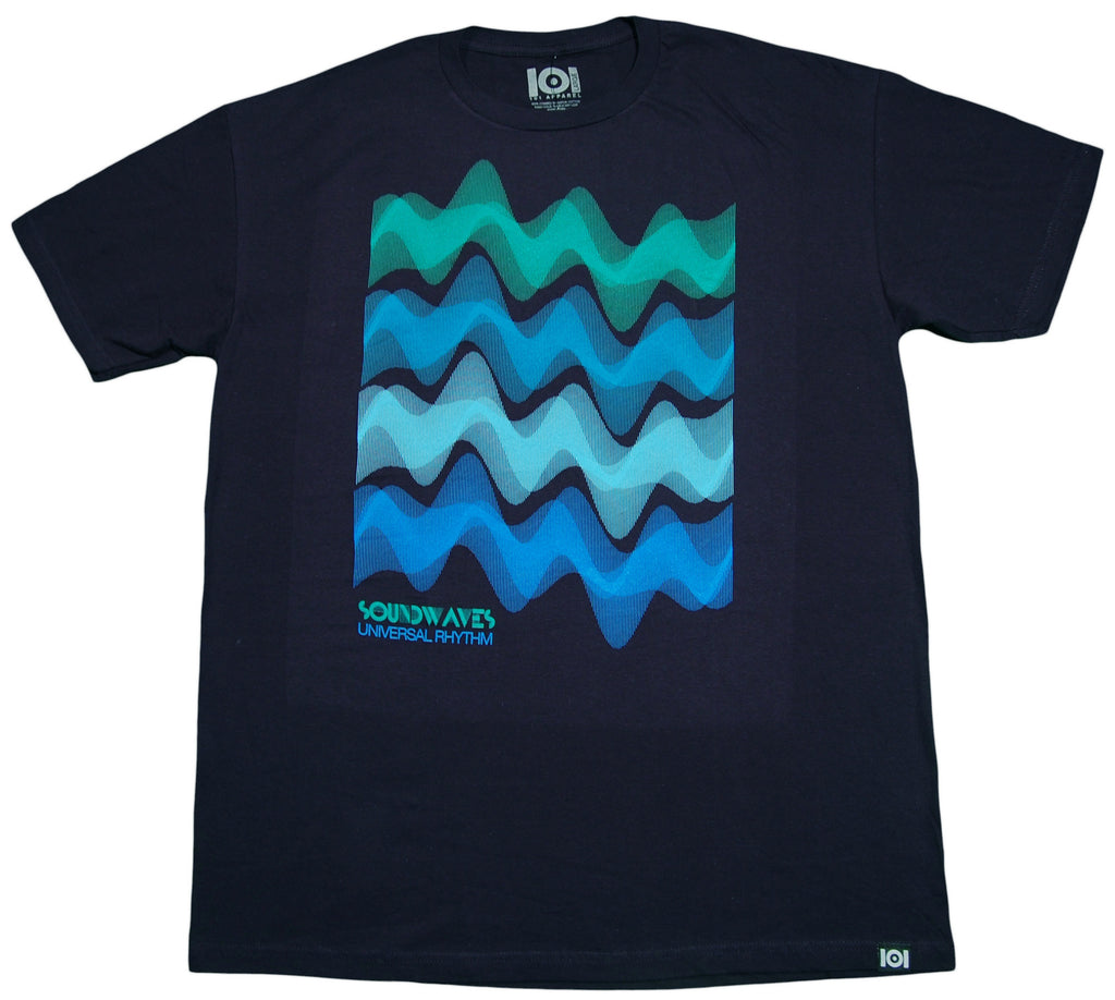 <!--2013021935-->101 Apparel - 'Soundwaves' [(Dark Blue) T-Shirt]