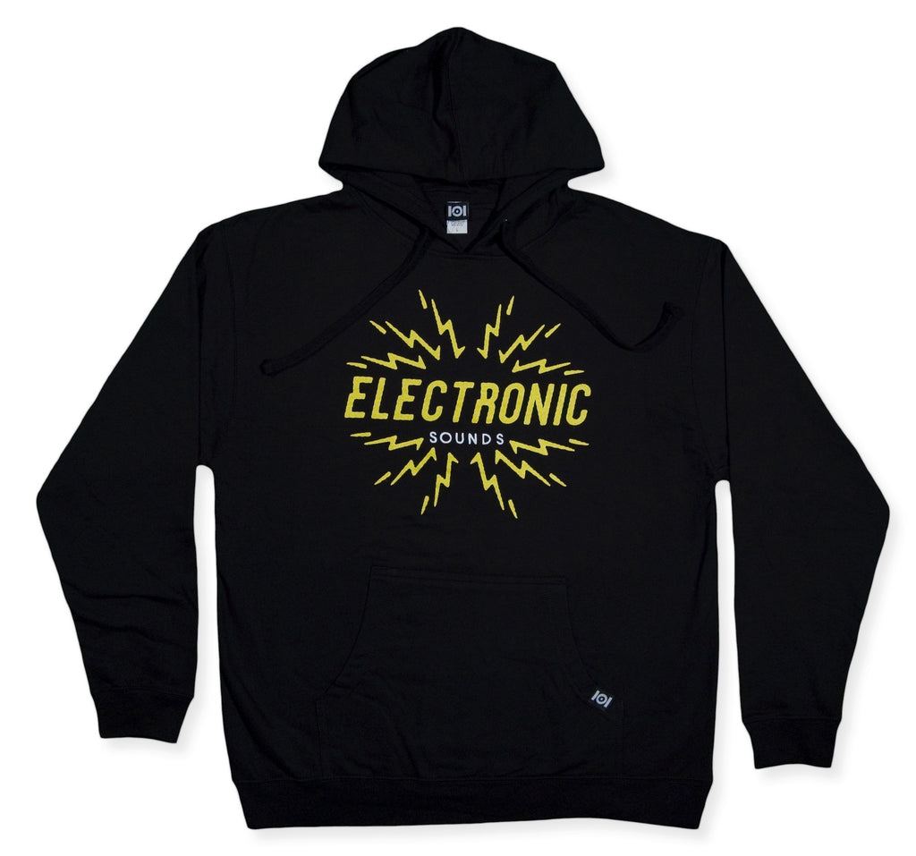 <!--2013122009-->101 Apparel - 'Electronic Sounds' [(Black) Hooded Sweatshirt]
