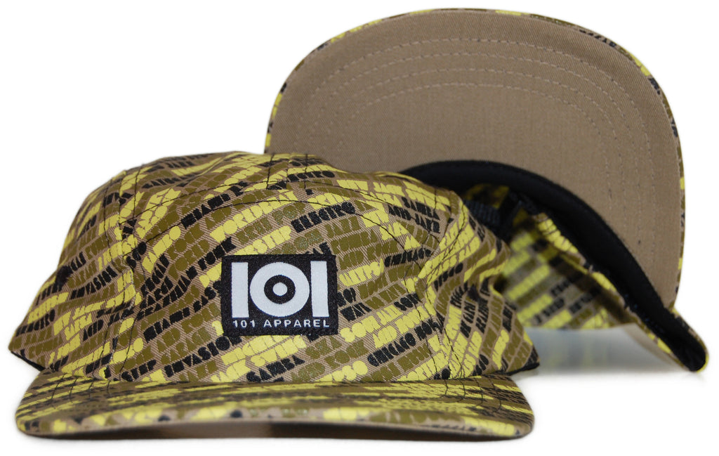 <!--020111018037393-->101 Apparel - 'Worldwide Sounds' [(Light Brown) Five Panel Camper Hat]