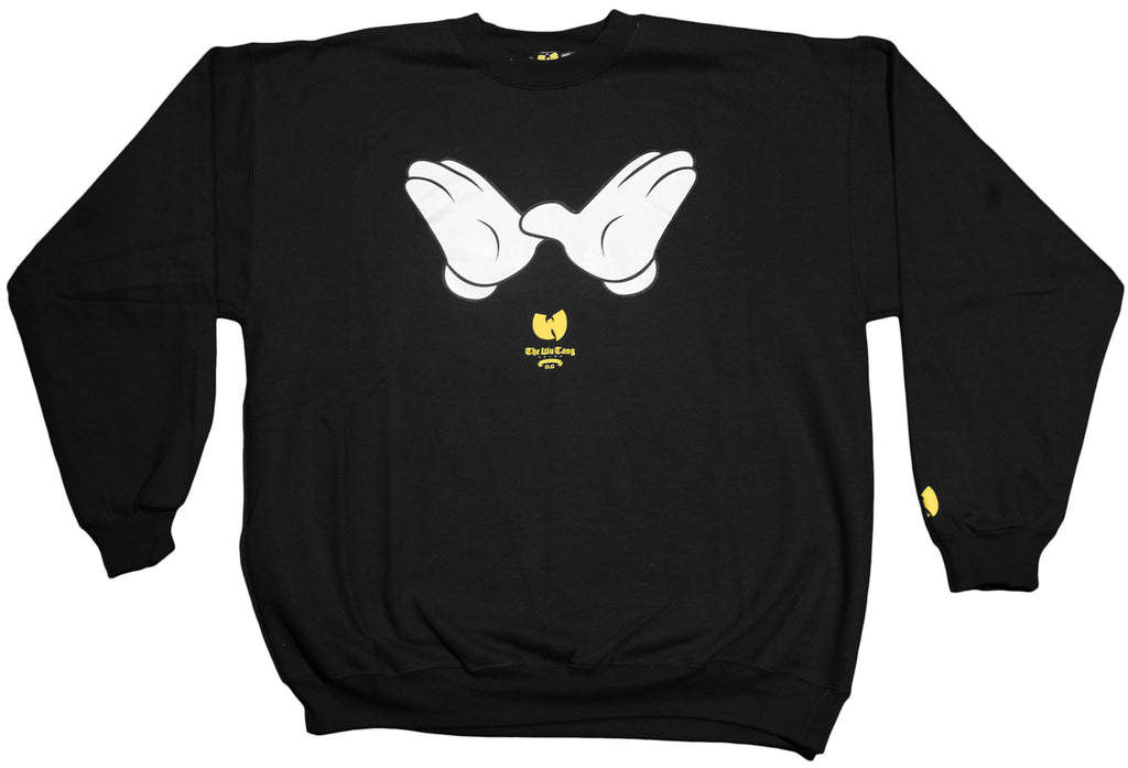 <!--2011112241-->Wu-Tang Brand LTD - 'W Hands' [(Black) Crewneck Sweatshirt]