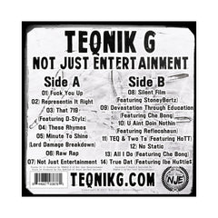 TEQNiK G - 'Not Just Entertainment' [(Gray) Vinyl LP]