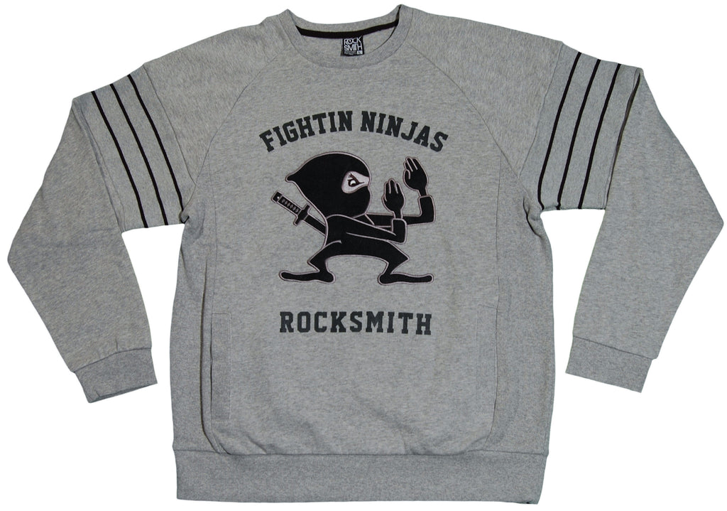 <!--2011091306-->Rocksmith - 'Fightin Ninja' [(Gray) Crewneck Sweatshirt]